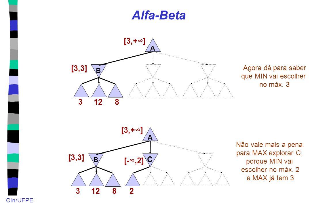 Alfa-Beta [3,+∞] [3,3] 3 12 8 12 3 [3,3] [3,+∞] 8 2 [-∞,2] C A